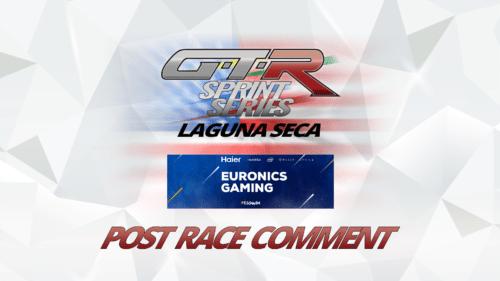Euronics Gaming Once Again Unlucky at Laguna Seca